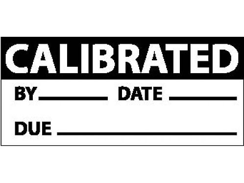 Calibration and Write On Labels