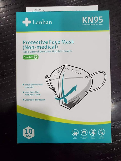KN95 Face Mask Non-Medical Masks 10/Box 10 Boxes / Case