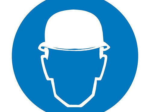 ISO Safety Label Wear Head Protection Pictogram