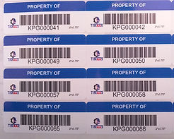 Custom Label Manufacturer of Asset Tags -  | Wholesale Safety Labels