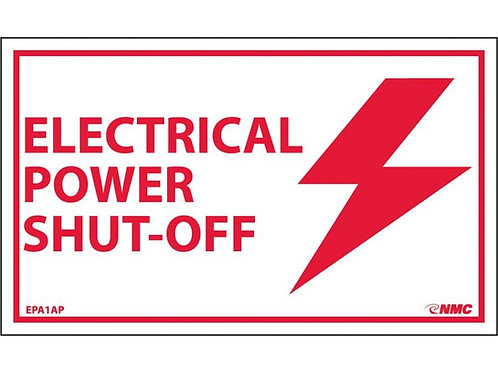 Electrical Power Shut-Off Labels