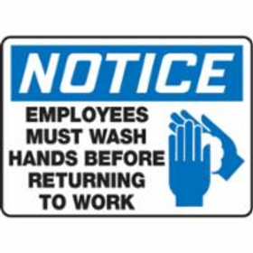 Notice Wash Hands Signs