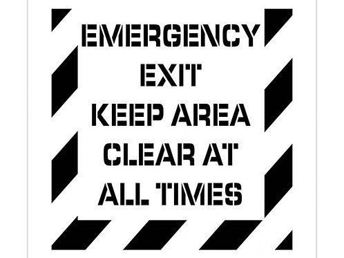 Floor Stencils - Emergency Exit Keep Area Clear