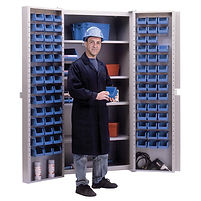 Deep Door Combination Cabinets - 84 Bin Cabinets | Wholesale Safety Labels