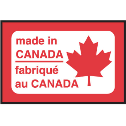 """Made in Canada Labels -  3/4"""" x 1/2"""" 1000/Roll"""