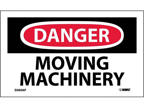 Danger Moving Machinery Labels