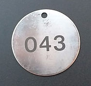 Stainless Steel Engraved Valve Tags