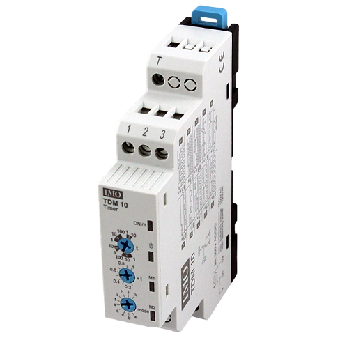 IMO Din Rail Timer Multi. 24-350VDC, 24-265VAC Sup