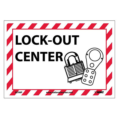 Graphic Lockout Signs:  Lock Out Center
