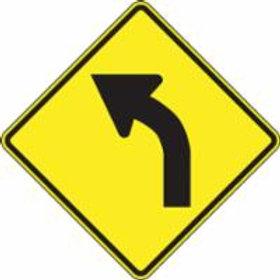 """Warning Sign Left Curve Pictogram - 24"""" x 24"""""""