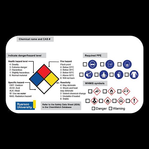 Custom Chemical Labels 10.2 cm x 17.8 cm