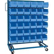 Mobile Blue Bin Racks