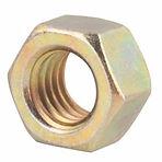 Thru-Hardened Yellow Zinc Finish Steel Nuts
