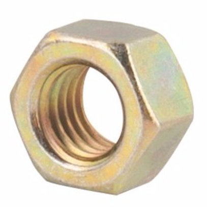 "1/2""-13 Yellow Zinc Finish Grade 8 Finished Hex Nut 100/Box"