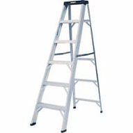 Featherlite 2400 Series Aluminum Stepladders | Wholesale Safety Labels