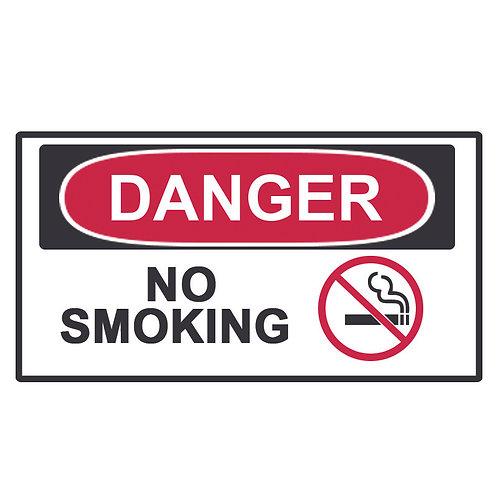 Danger Label No Smoking