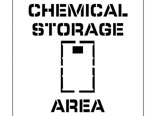 Floor Stencils - Chemical Storage Area
