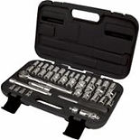 "41-PC 1/4"" & 3/8"" Drive S.A.E./Metric Socket Sets"