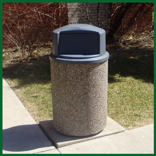 Round Concrete Garbage Container with Lid
