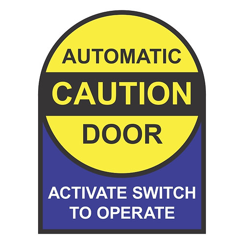 Automatic Door Activate Switch To Operate Caution Decals | Wholesale Safety Labels
