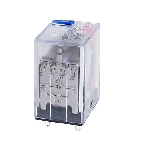 IMO Relay 4PCO, 5A, 24VDC, up to 1.1W Plug-in, Tes