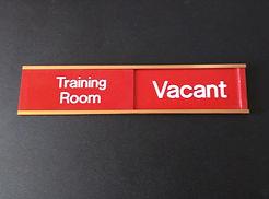 Custom Engraved Sliding Panel Signs