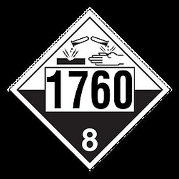 Corrosive Liquid 1760 Placards | Wholesale Safety Labels