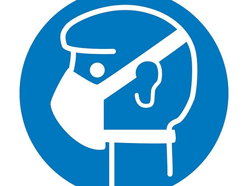 ISO Safety Label Wear Mask Pictogram