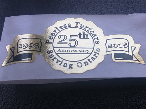 Gold Foil Anniversary Labels | Wholesale Safety Labels