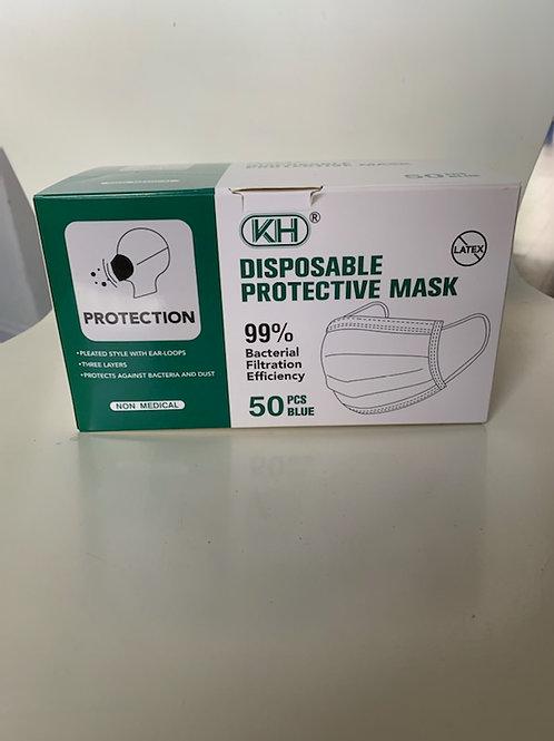 3 Ply Non-Medical Masks 50/Box 10 Boxes / Case