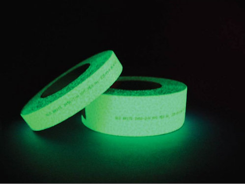 HIGH LUMINANCE GLOBRITE SAFETY TAPE 24 Plus Hours Glow Time