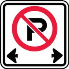 Regulatory No Parking Signs