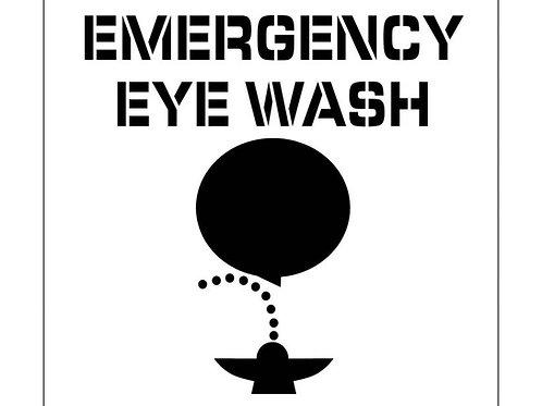Floor Stencils - Emergency Eye Wash (Graphic)