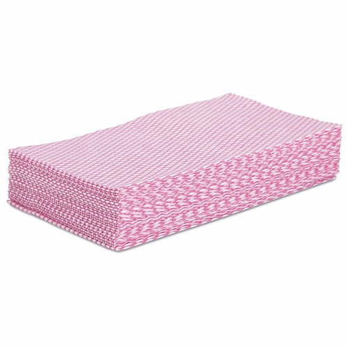 Boardwalk® Foodservice Wipers Pink/White, 12 x 21, 200/Carton