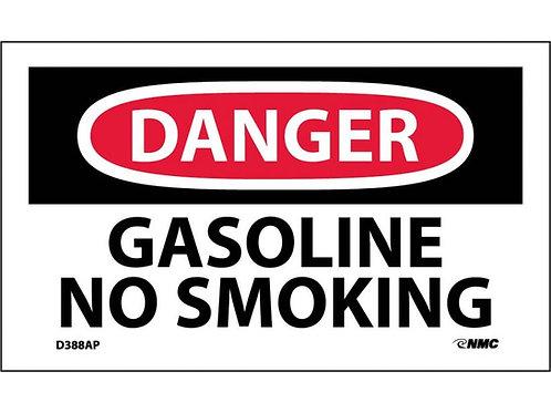 Danger Gasoline No Smoking Labels