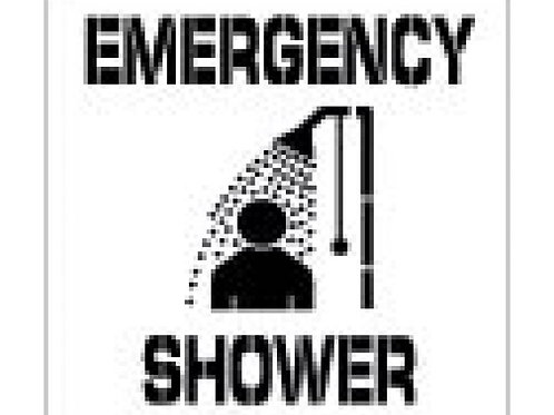 Floor Stencils - Emergency Shower (with Graphic)
