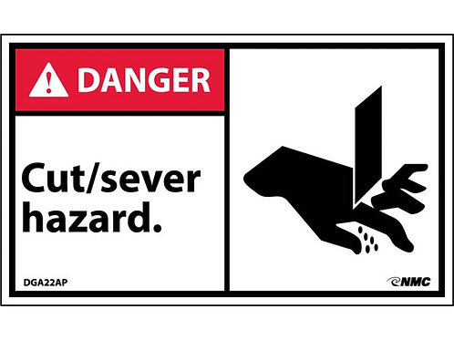 Hazard Danger Label Cut / Sever Hazard
