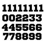 Die Cut Vinyl Numbers and Letters | Wholesale Safety Labels