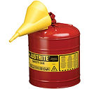 Justrite Type II AccuFlow™ Safety Cans with Funnel