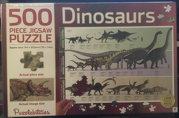 500-piece jigsaw: Dinosaurs, 9781743638613