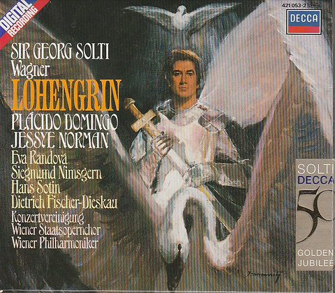 Wagner, Lohengrin, Sir Georg Salti, Placido Domingo, 028942105324