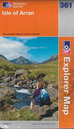 OS Explorer Map 361: Isle of Arran, 9780319238752