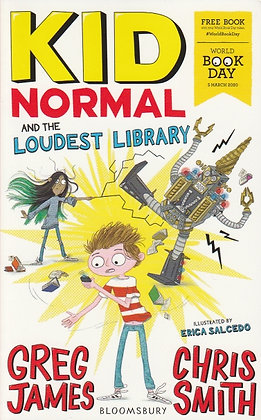 WBD 2020 - Kid Normal and the Loudest Library, Greg James & Chris Smith, front