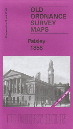 Old Ordnance Survey Maps - Paisley 1858 (Coloured Edition), 9781847845634