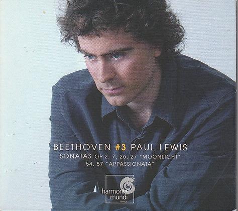 Beethoven #3, Sonatas Op 2, 7, 26, 27, 54, 57, Paul Lewis, 794881848027