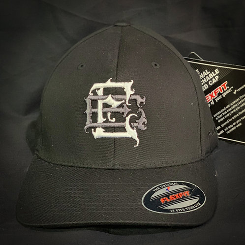 Black/Grey Curve Brim Flexfit