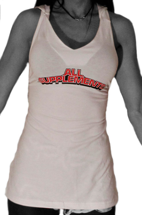 All Supplements Ladies Hooded Sleeveless Top
