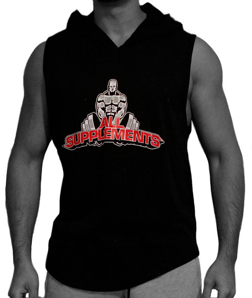 All Supplements Mens Hooded Sleeveless Top