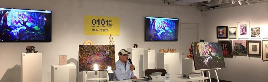 Artwork presentation at Artzdeal exhibition