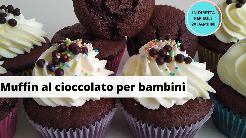 Muffin al cioccolato per bambini